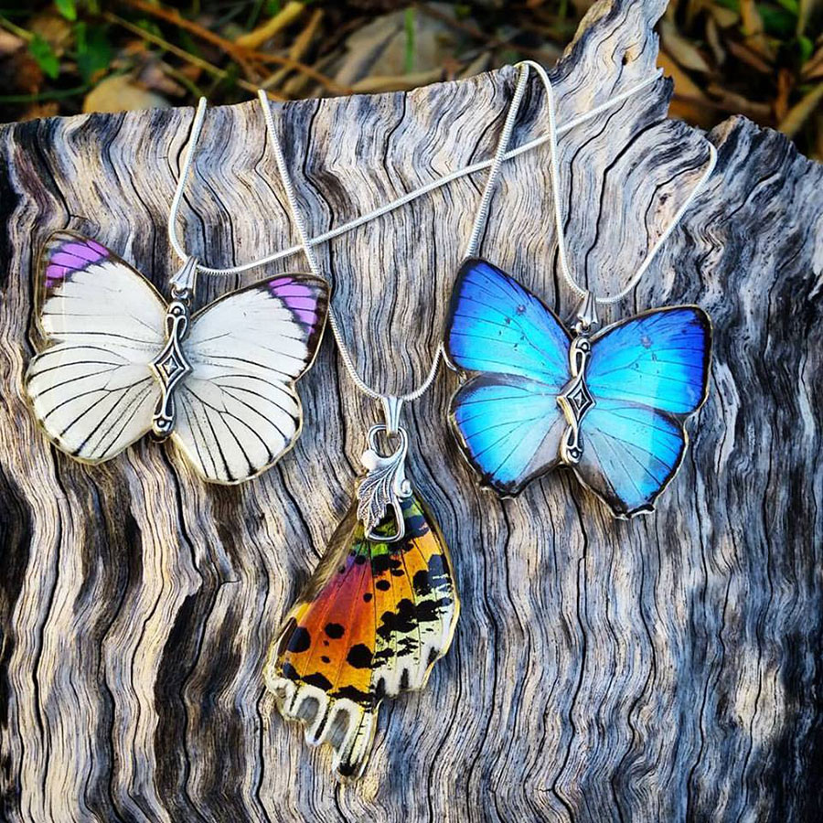 Anita-Baills-butterfly-wing-necklaces